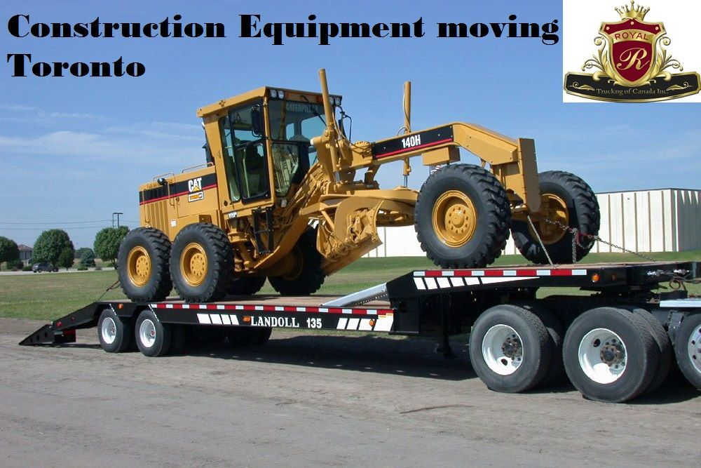 Heavy construction equipment moving services in toronto