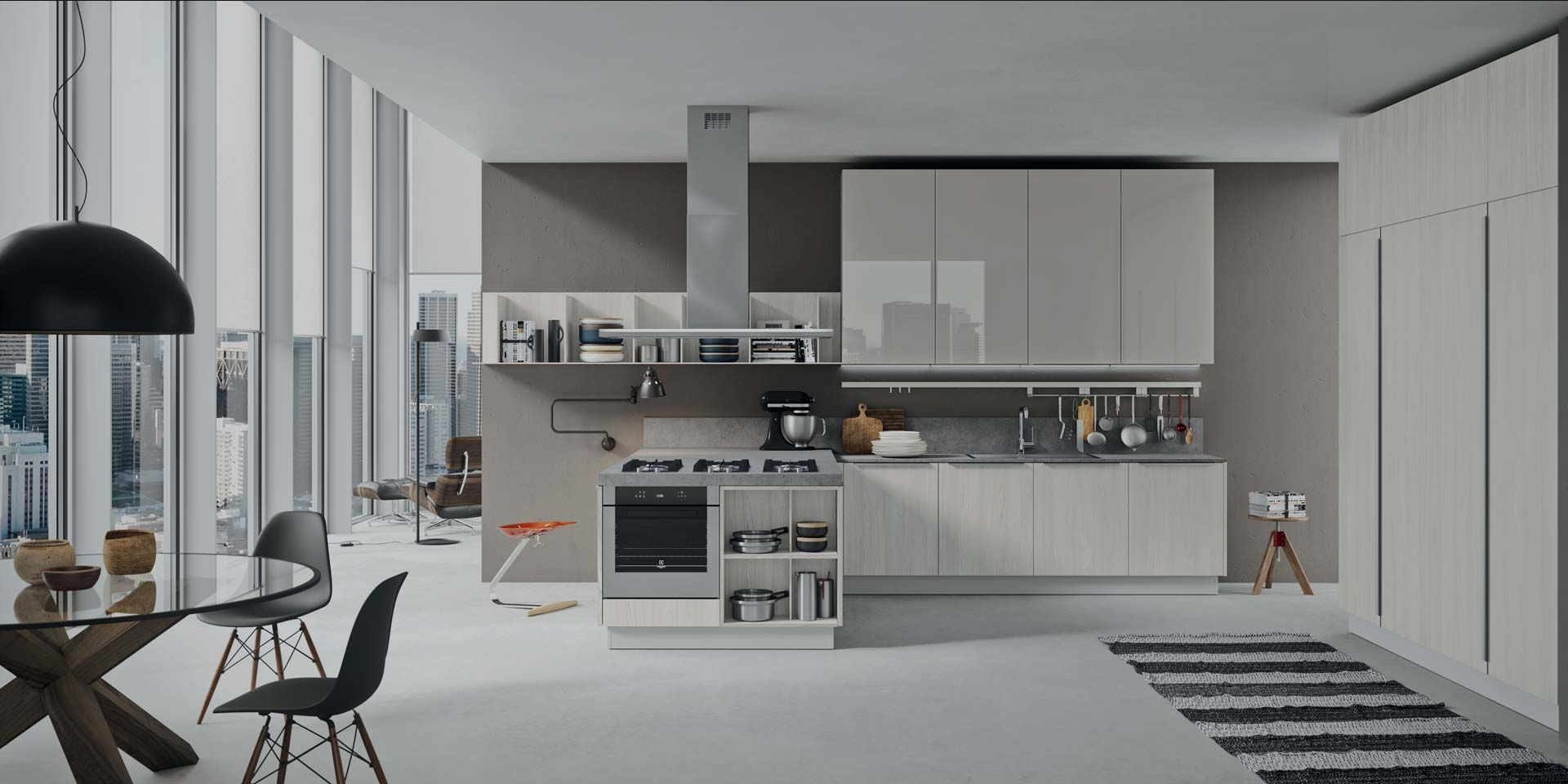 Great Quality Italian Kitchens At Affordable Price Visit Our Nyc Showroom For More Details Modern Kitchen Modern Kitchen Design Dark Wood Dining Table