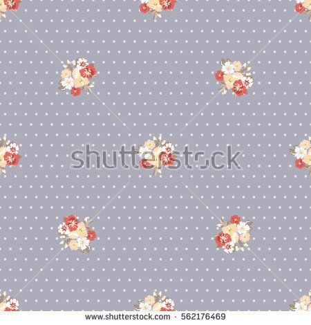 Seamless cute pattern of small flowers. Summer millefleurs. Floral simple diagonal seamless background for textile or book covers, manufacturing, wallpapers, print, gift wrap and scrapbooking.