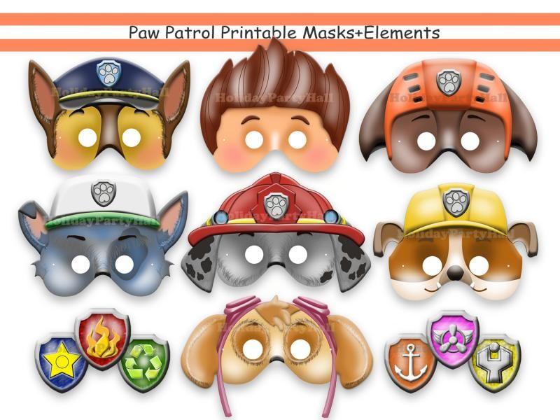 PAW Patrol Printable Masksparty Masksbirthdaydecorationinvitation