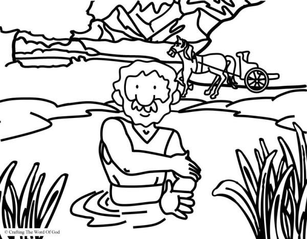 Naaman Is Healed Coloring Page Sunday School Coloring Pages