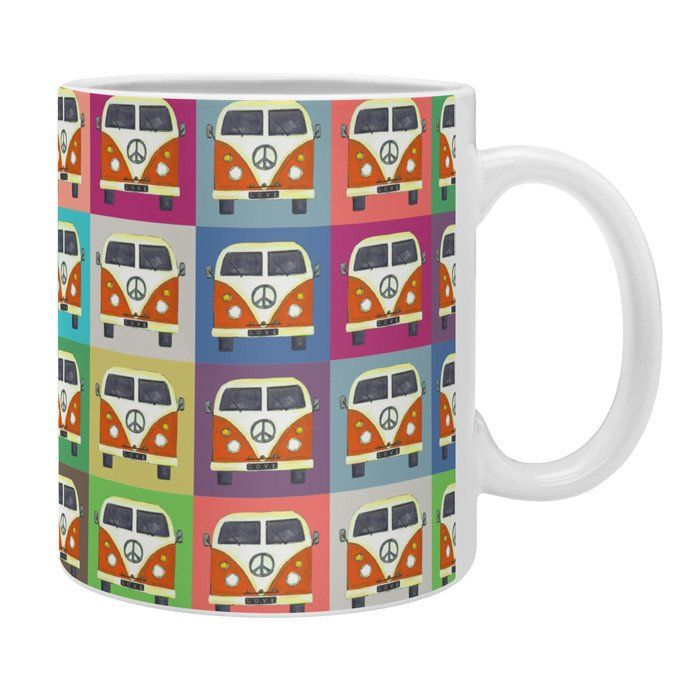 Sharon Turner Peace Campers Coffee Mug | DENY Designs Home Accessories