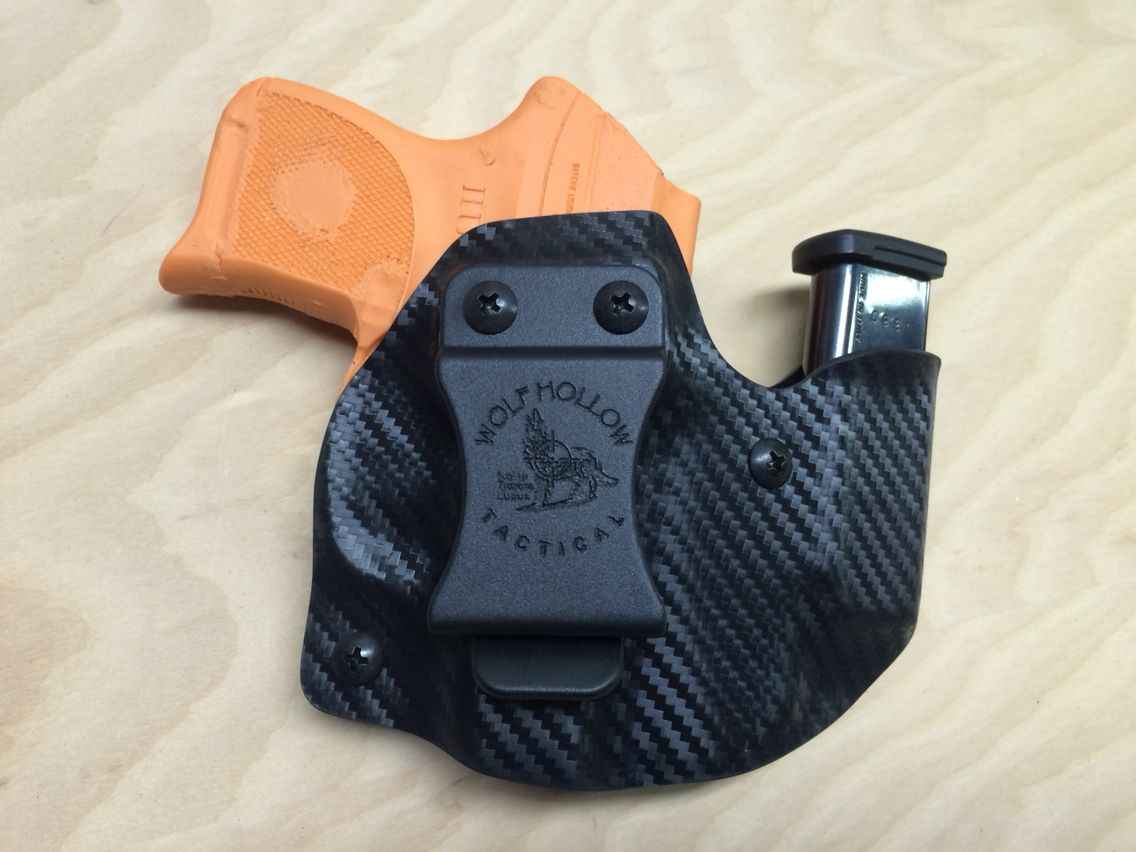 Ruger LCP Wolf Pack AIWB holster/mag holder combo in black carbon