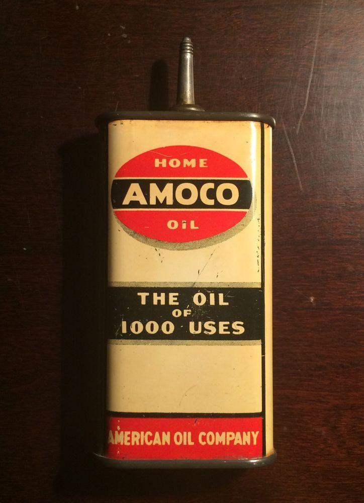 American Oil Company Tin Metal Sign Amoco Standard Gas and Oil Garage Mechanic