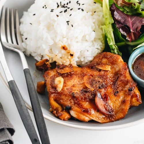 Garlic Onion Chicken 鶏肉のガーリックオニオンソース • Just One Cookbook Garlic Oni