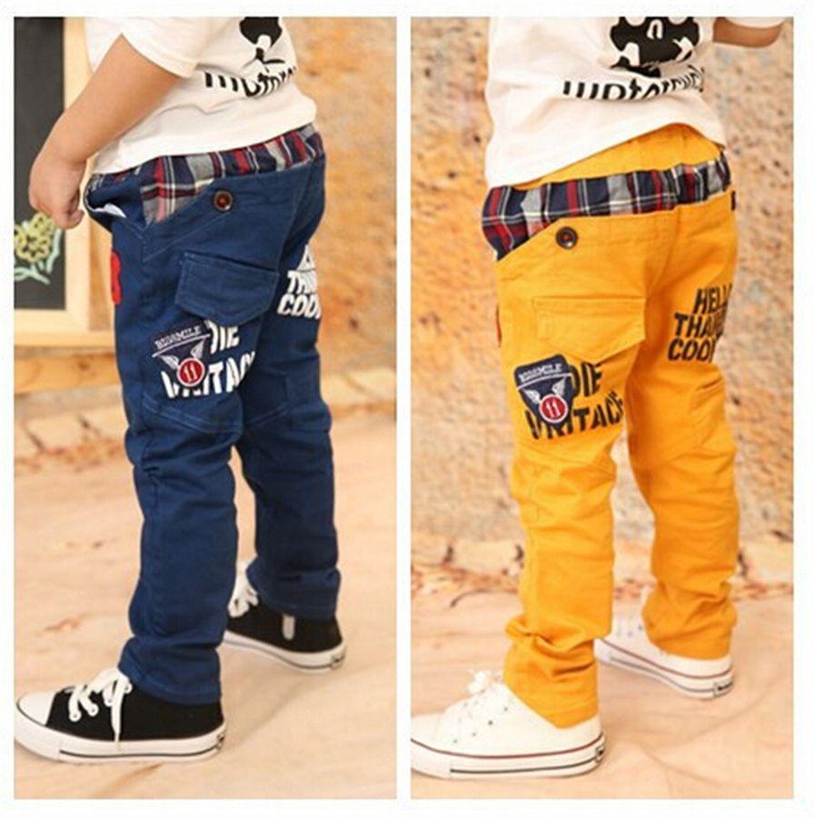 2016 nuevos niños del resorte y del otoño Pantalones Niños del bebé que  lleva de Corea del diseño de moda Kid Causual Pantalones de 3-8 años de edad fea6658e490