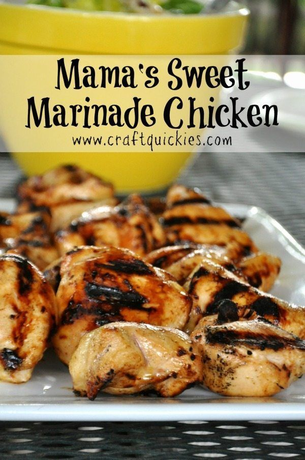 Mama's Sweet Chicken Marinade Perfect for Summer Grilling