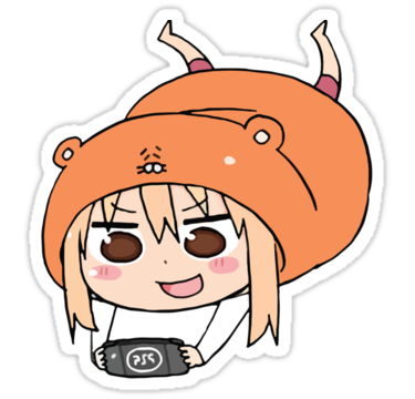 Himouto Umaru Chan Psp By Gentlemenwalrus Anime Stickers Preppy Stickers Cute Stickers