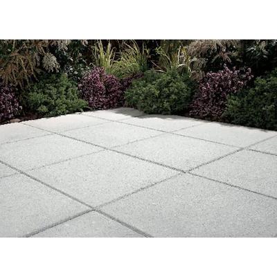 Square Gray Concrete Patio Stone (Common: 20-in x 20-in ... on Square Concrete Patio Ideas id=88852