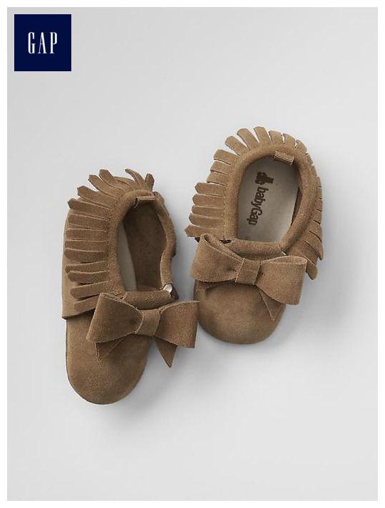 Fringe bow moccasins | Baby Gap | Baby