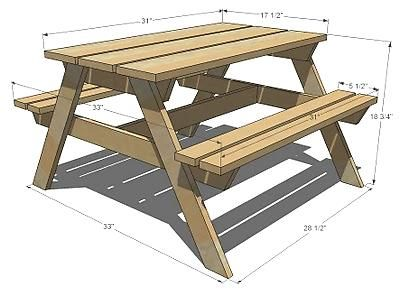 Kids picnic table my hubby 39 s next project i love that for Dimension table 6 personnes