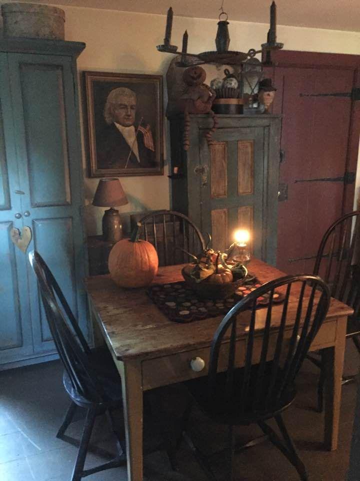 Zeichnen, Wohnen, Rustikale Esszimmer, Primitive Tische, Bauernhaus  Esszimmer, Primitive Art Herbst, Schlichte Küchen, Urtümliche Möbel,  Primitive ...