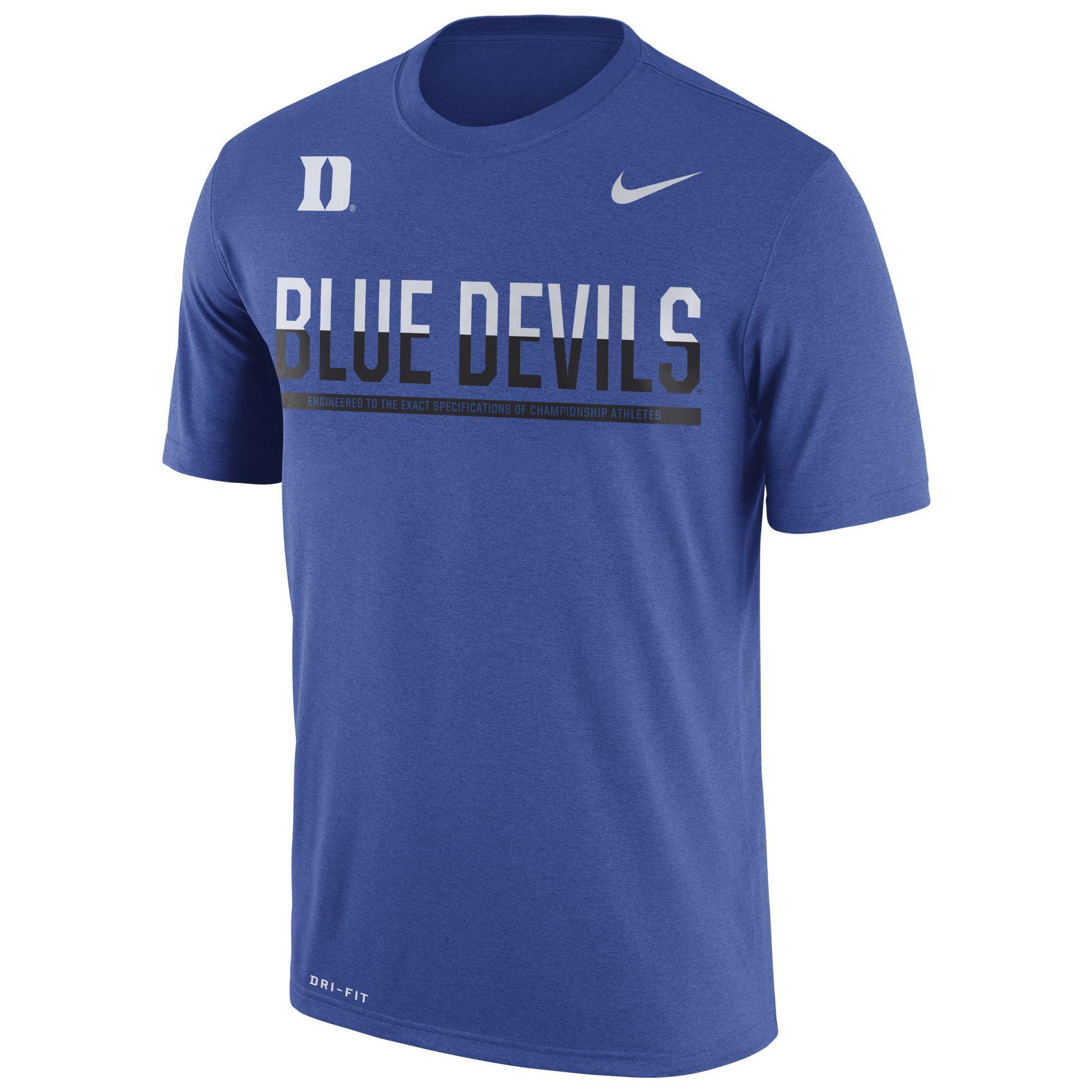 Nike Men's Boise State Broncos Legend Staff Sideline T-Shirt - Blue S