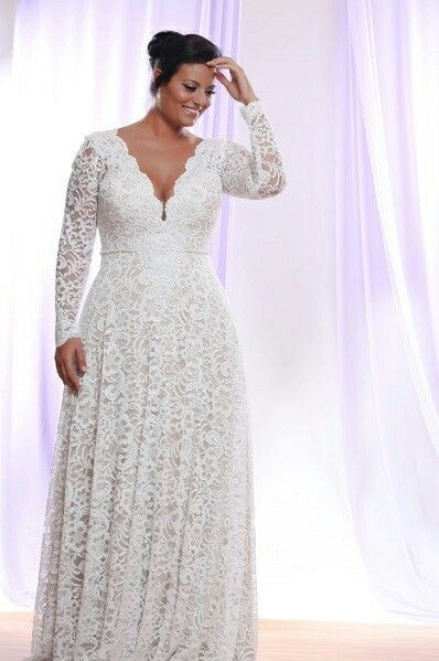 Vnecklace Dresses In 2019 Plus Size Wedding Dresses With Sleeves