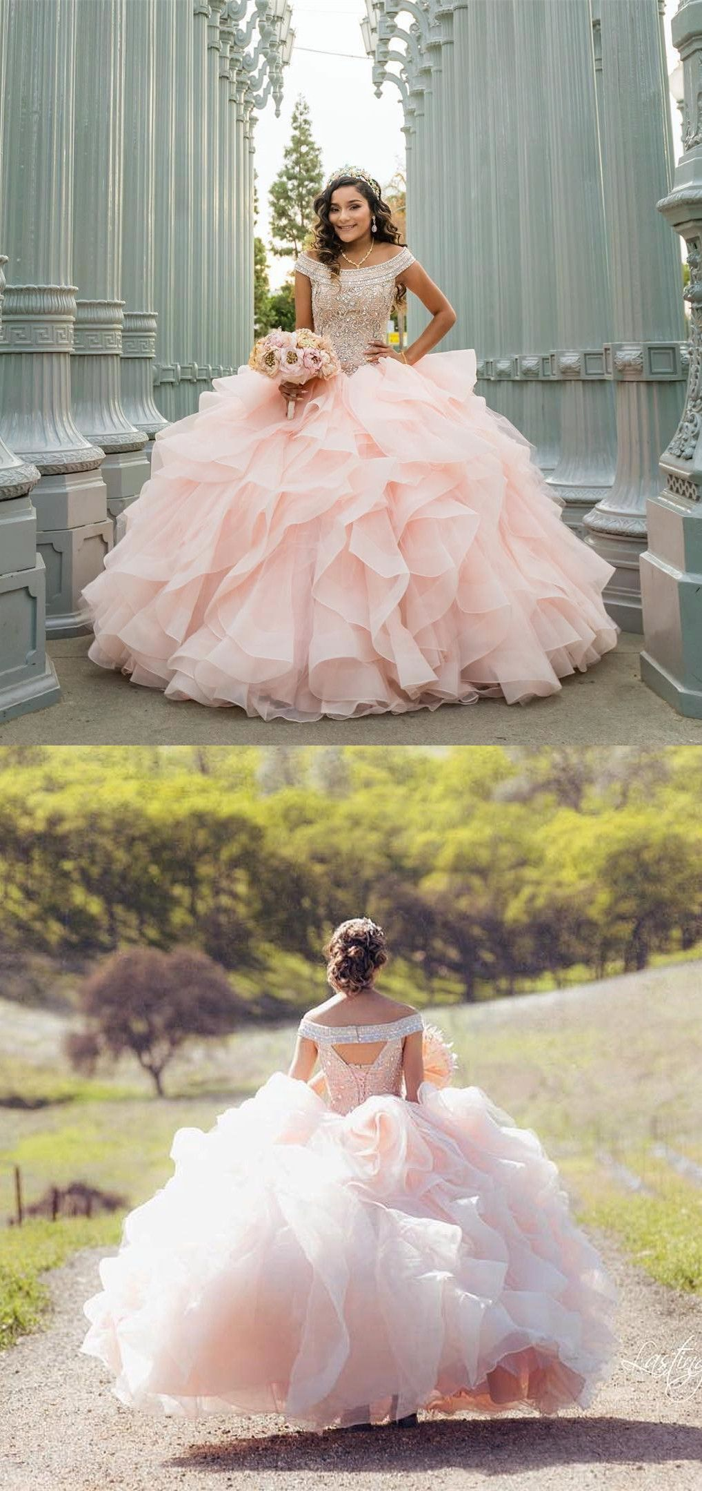Gorgeous Pink Quinceanera Dresses Sweet 16 Prom Party Dresses With Open Back Quinceanera Dresses Pink Quinceanera Dresses Gold Quinceanera Dresses Blush [ 2160 x 1018 Pixel ]