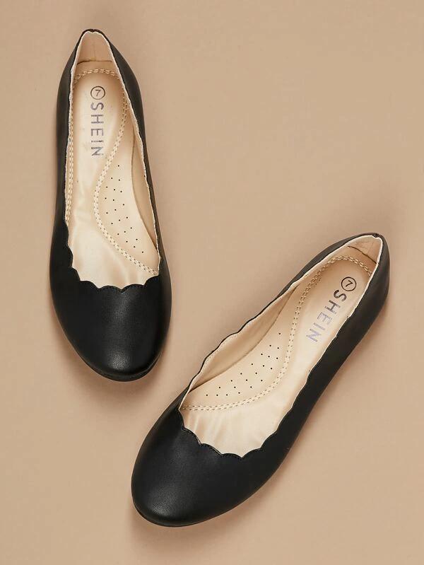 Ballerina flats, Faux leather flats