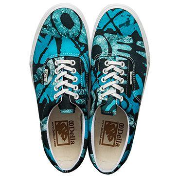 vans x della african print sneakers
