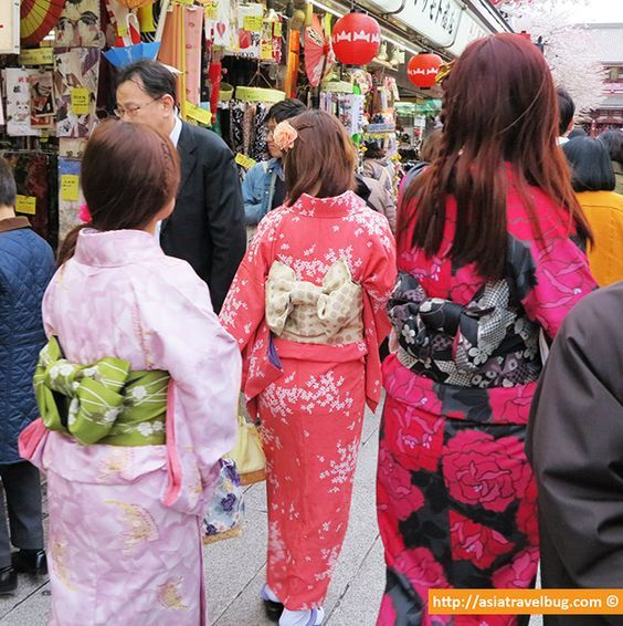 asakusa tokyo - where to stay in tokyo These look to be pre-tied obi, which hook into the back of the obi, common for Matsuri.