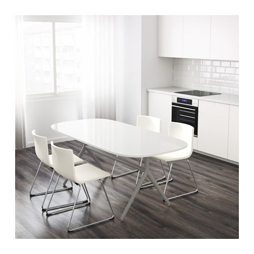 OPPEBY Table, gray white, Oppmanna high gloss white gray Ikea - ideen für badezimmer fliesen