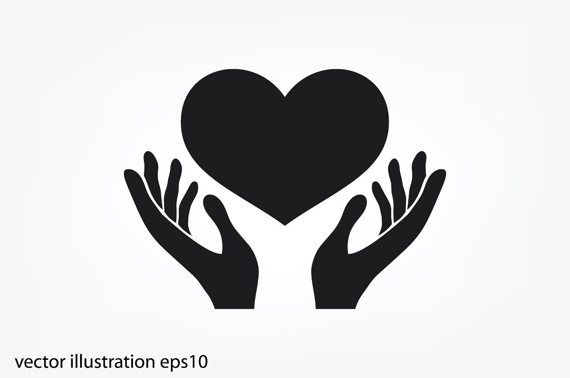 Heart in the hands vector icon. #hold#hope#heart#hand ...