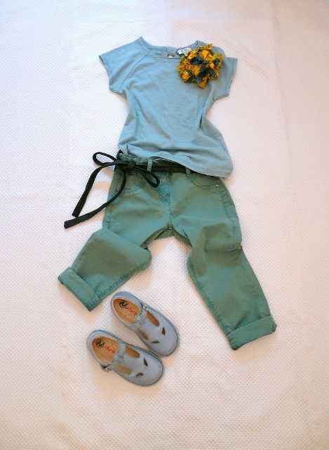 LIGHT BLUE and GREEN: INSPIRATION FROM PITTI BIMBO on www.fiammisday.com