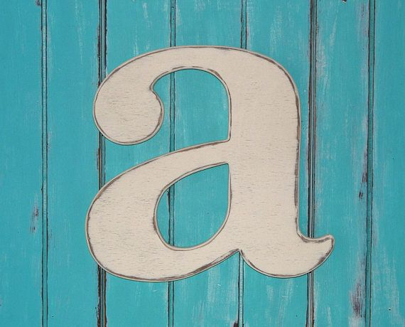 wooden lowercase letter a distressed wood letters 24 inch