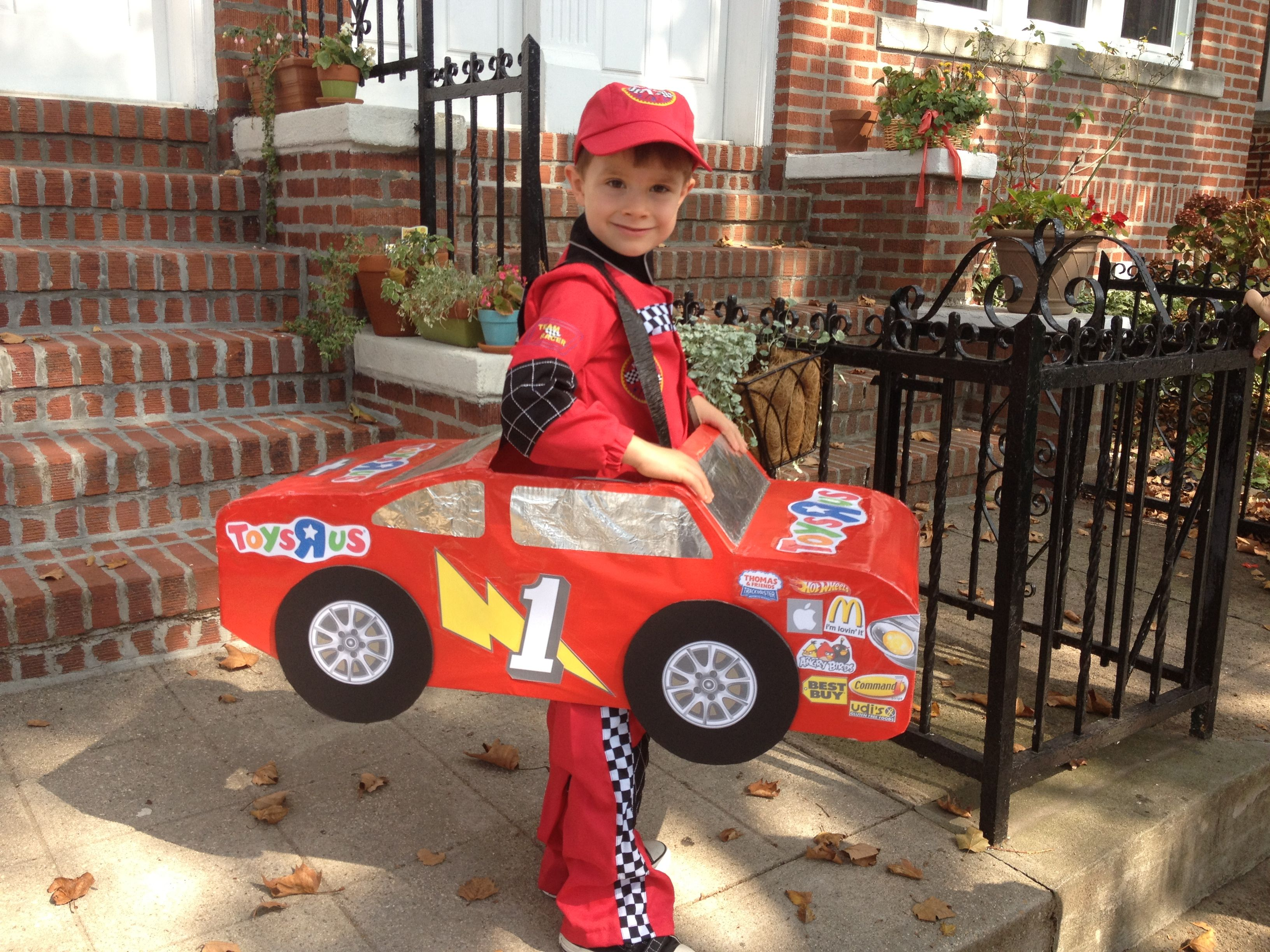 Racecar driver with car - Halloween Costume. Inspired by Lightning ...