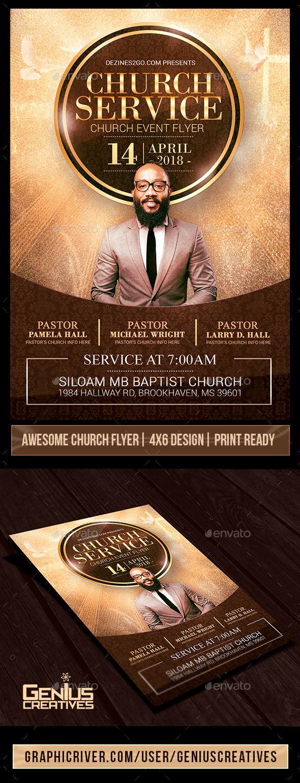 Church Service Flyer Template V2