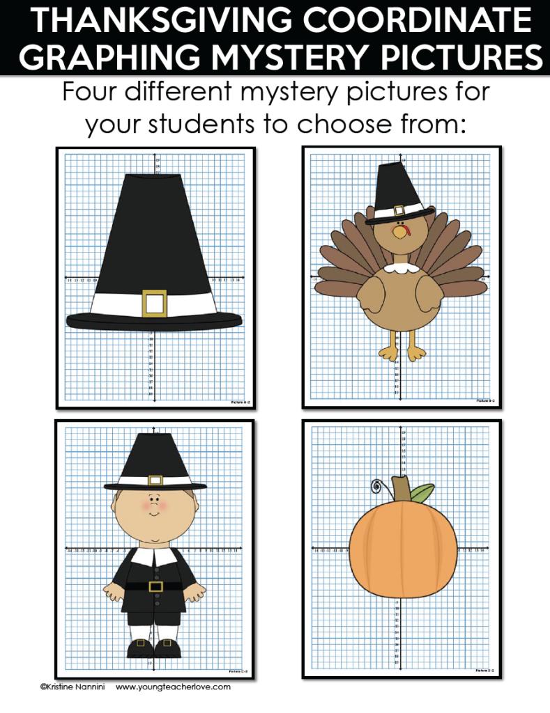 worksheet Thanksgiving Coordinate Graphing thanksgiving coordinate graphing mystery pictures by kristine nannini