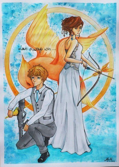 Hunger Games Fan Art Katniss And Peeta Hunger Games Fan Art /...