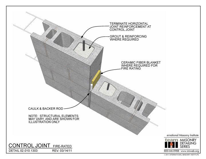 Expansion And Control Joints Masonry Walls Masonry