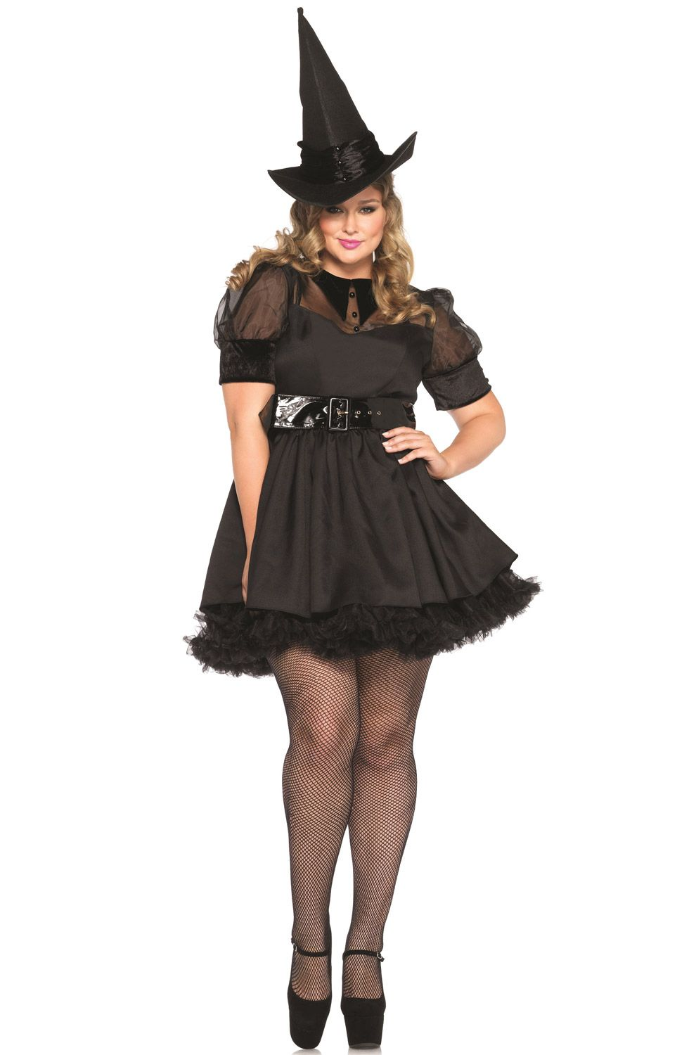 you donu0027t need potions and powers to put everyone under your spell our sexy bewitching witch plus size costume is perfect for halloween