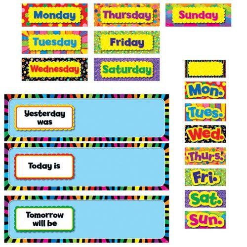 image regarding Printable Days of the Week Chart titled coaching times of 7 days printable chart Preschool homeschool