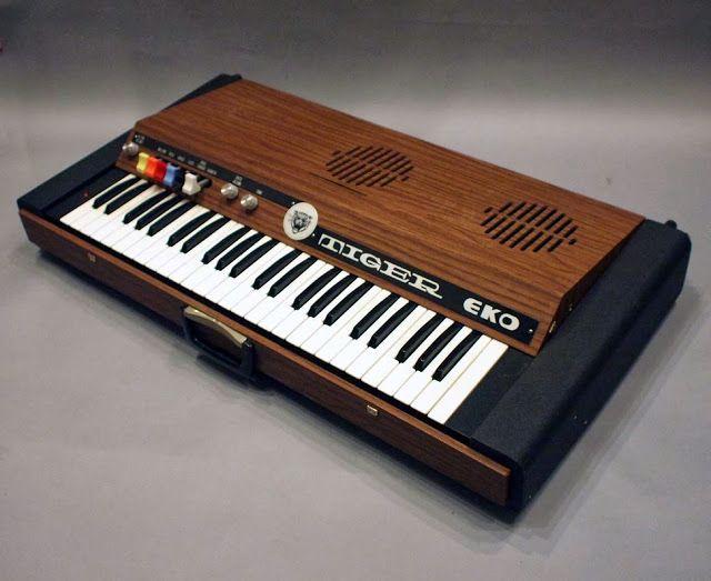 Vintage 1969 Eko Tiger Keyboard Piano Synthesizer Synthesizer Keyboard Piano Piano
