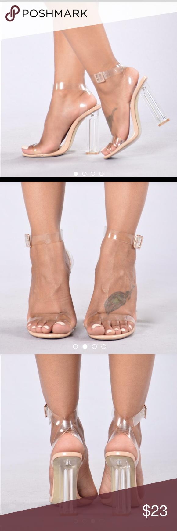 cbb681264e9 The Glass Slipper Heel by Fashion Nova Clear Straps Lucite Heel ...