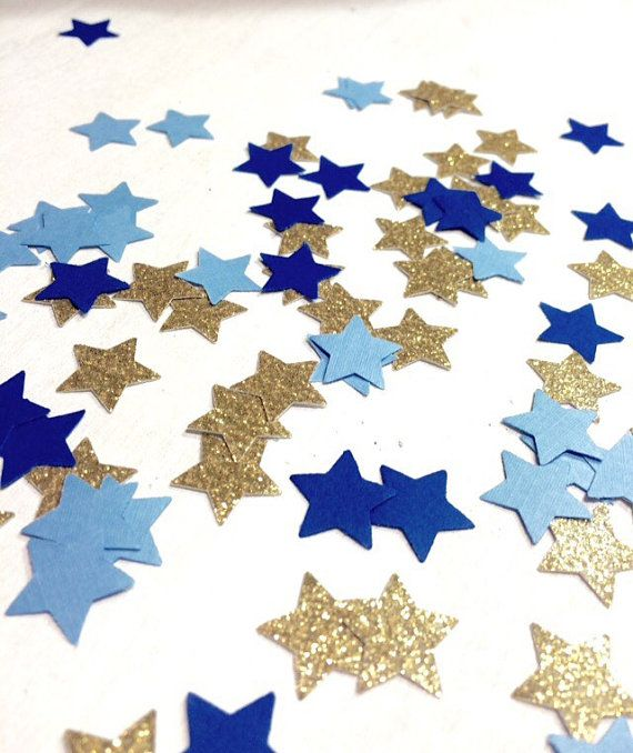 ★ Twinkle Twinkle Little Star ★   This Star Confetti looks darling scattered on a table or dessert cart! Perfect for birthday parties, bridal