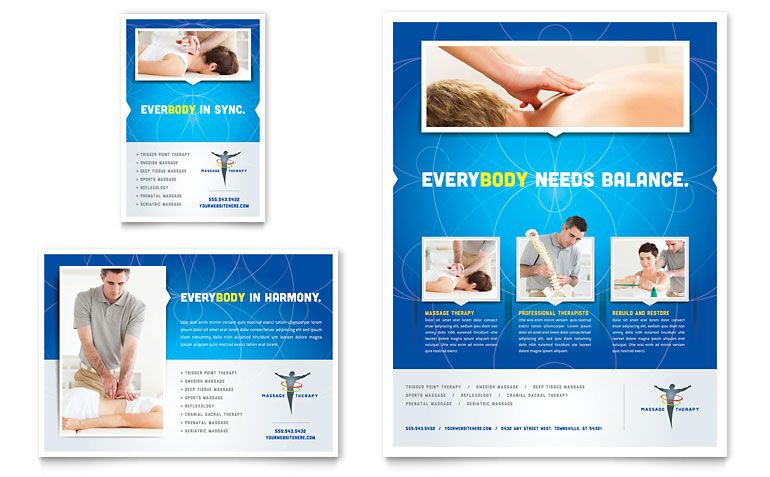 Reflexology  Massage  Flyer  Ad Template Design  Massage