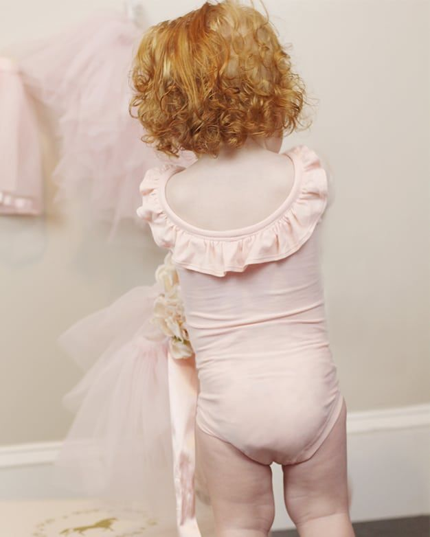 Baby Lydia's Ruffle Back Leotard. Downloadable PDF Sewing