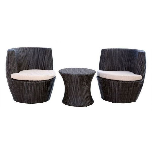 Abbyson Living Carlsbad Outdoor Wicker 3 Piece Chair Set (2.060 ...