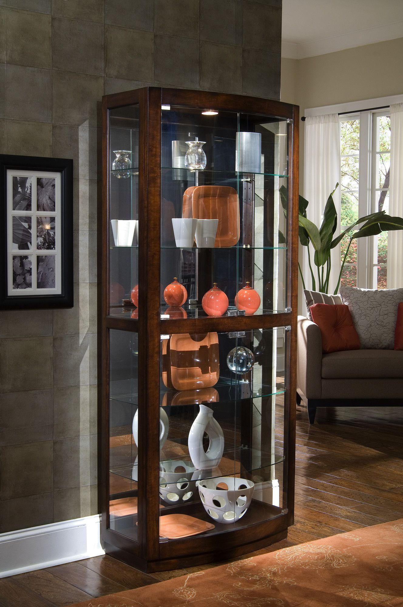 Curio Cabinet | Indian in 2019 | Glass curio cabinets ...
