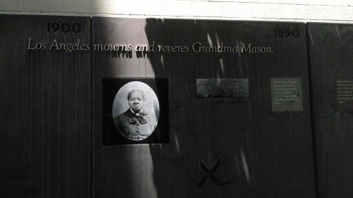 Biddy Mason Grandma Mason One Of The Wall Murals Downtown Los Angeles Inside Biddy Mason Park Park Biddymason Africanfirst Pion Mason Slavery Los Angeles