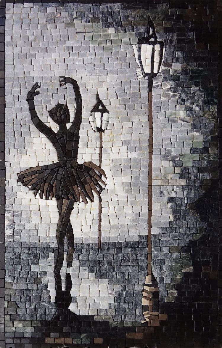 Nude In Wine Glass Fantasy Art Mosaic | Human figures