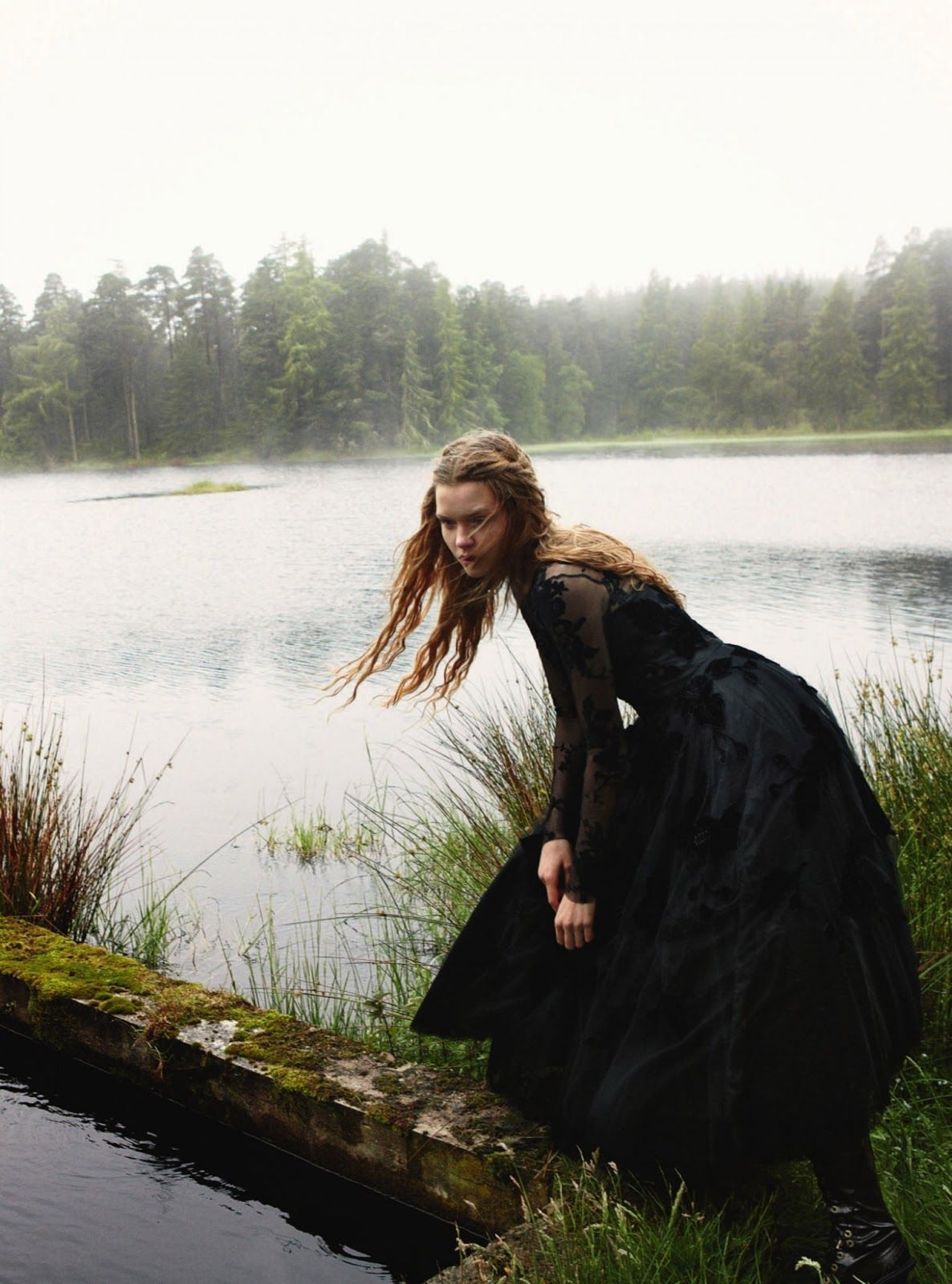some enchanted evening: josphine skriver by yelena yemchuk for uk harper's bazaar december 2012