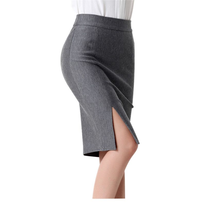 025118b42fa137 Goedkope 2016 Nieuwe Collectie Mode Vrouwen Formele Werkkleding Rokken  Dames Sexy hoge Taille Mini Kokerrok 3 Kleuren Plus Size Bodem 5602