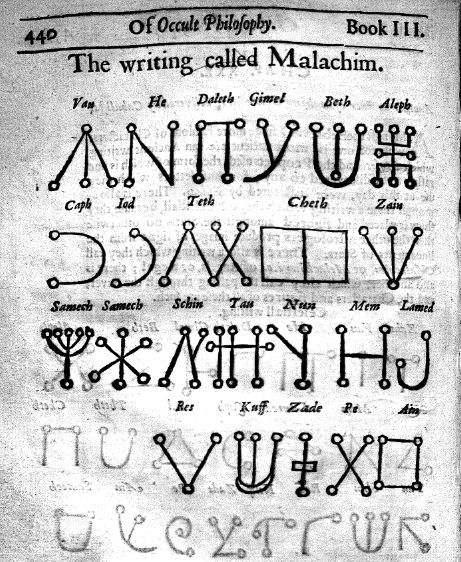The Writing Called Malachim Philosophy Books Occult Magic Book