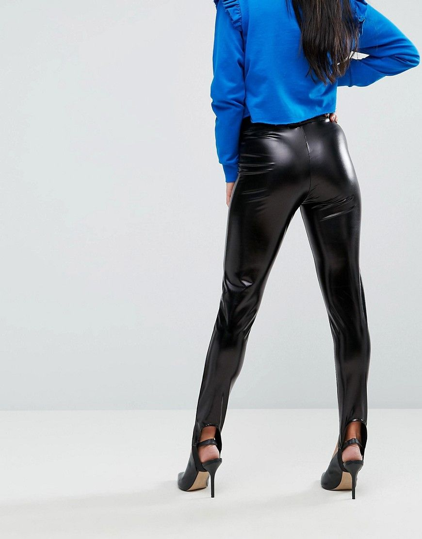 3732226dec1d1 Miss Selfridge Petite Wet Look Stirrup Legging in 2019   Products ...