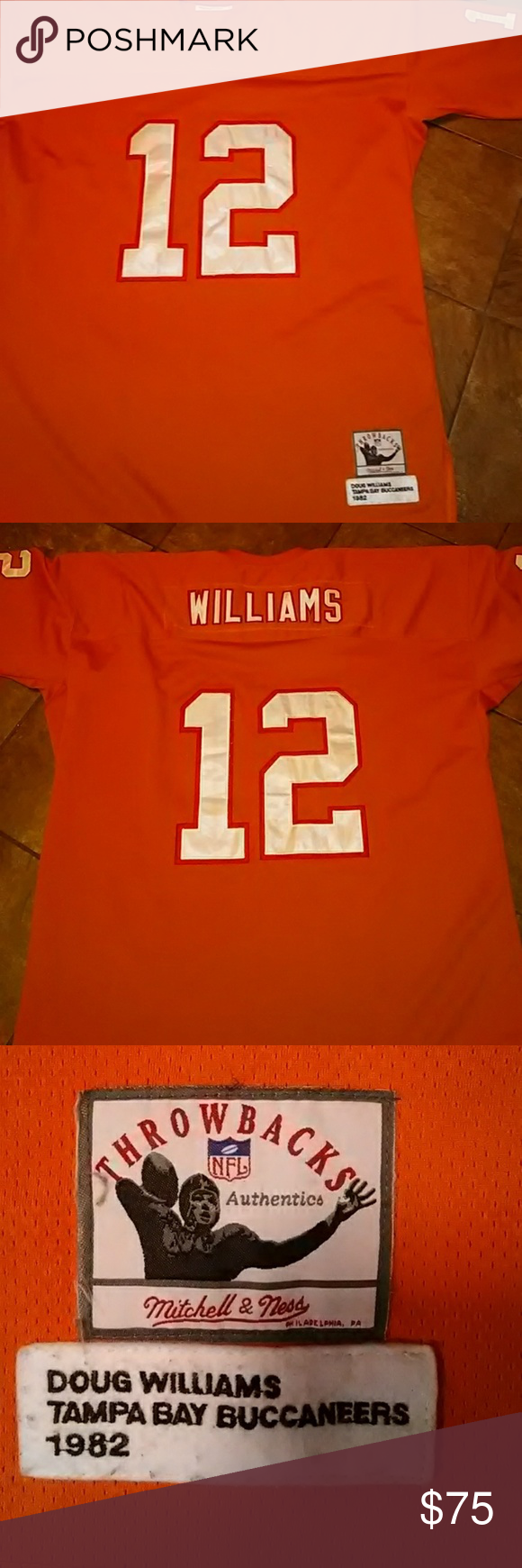 b34a25690 ... where can i buy nfl tampa bay buccaneers doug williams jersey orange nfl  tampa bay buccaneers cheap nfl throwback ...
