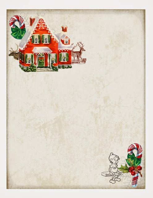 Free Printable Christmas Paper Great for a note from the elf on