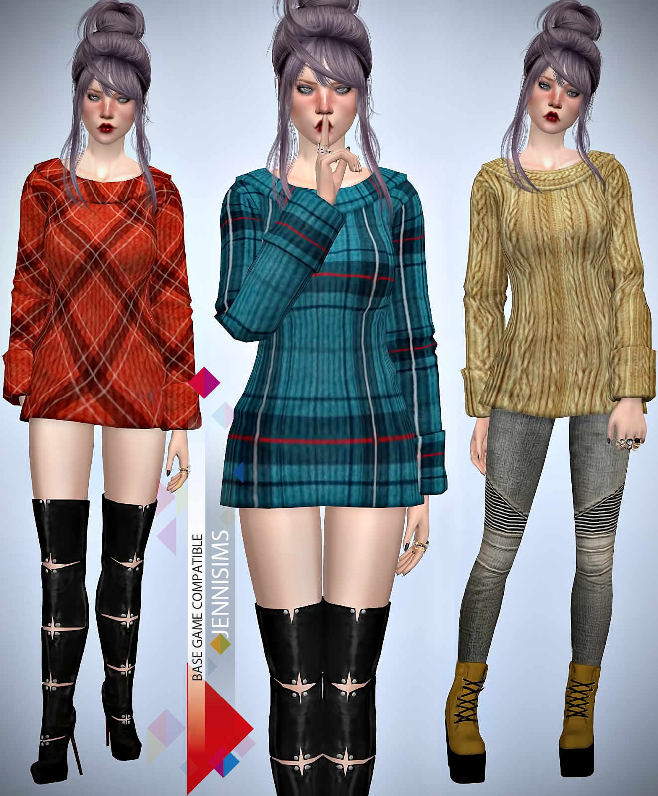 Mod The Sims - Punk Jacket - Grimmy Revamped! (YA/Adult