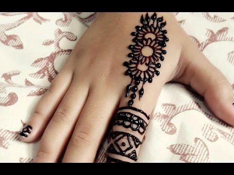 Finger Mehndi Art : How to learn arabic mehndi design first day class youtube